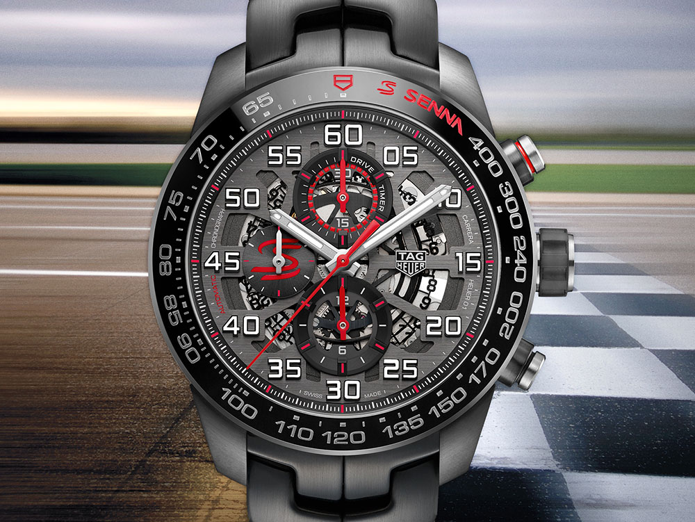 e62870cefda Earlier this year, three sport-style Elton senna watches from TAG Heuer  were announced in honor of the 30 years since the 1987 championship drivers  first ...